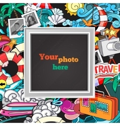 summer photo frame vector image vector image