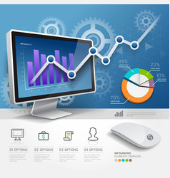 3d infographics web design template vector