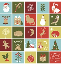 Advent Calendar Christmas vector image