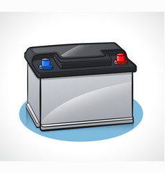 Auto battery design isolated vector