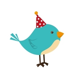 Bird hat fun cute isolated vector