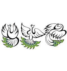Birds symbols vector image