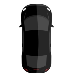 Black car top view vector image vector image