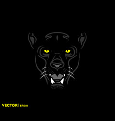 black panther face vector image