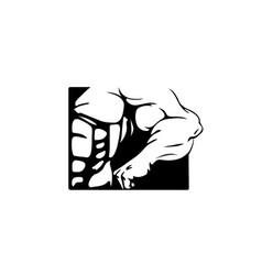 bodybuilding-logo vector image