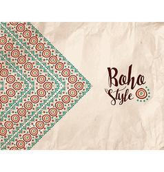 Boho style paper texture tribal handmade design vector