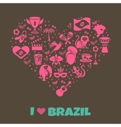 Brazilian thematic print 5 vector