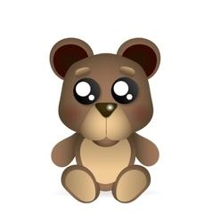 brown teddy bear vector image