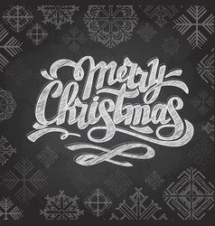 Chalk drawing typography christmas card design vector