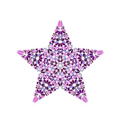 Colorful geometrical isolated petal ornament star vector