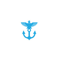 creative anchor bird logo vector image