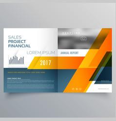 creative bi fold brochure magazine page design vector image