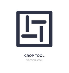 Crop tool icon on white background simple element vector