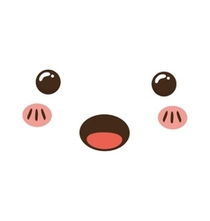 Cute cartoon face vector
