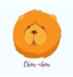 Dog Chow-chow vector