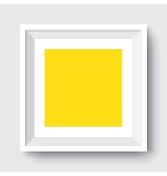 empty frame on wall vector image