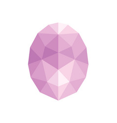 faceted gem on white background triangulation vector image