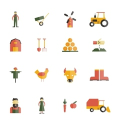 Farm Icon Flat vector