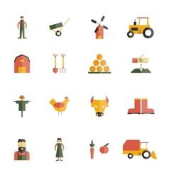 Farm icon flat vector
