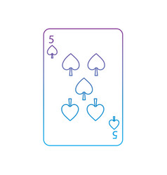 Five of spades french playing cards related icon vector