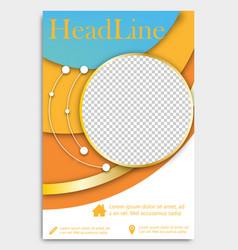 flyer template brochure design editable a4 poster vector image