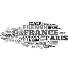France map word cloud concept vector