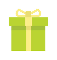 Gift box flat isolated cardboard boxes vector