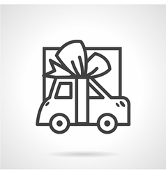 Giving car simple line icon vector image