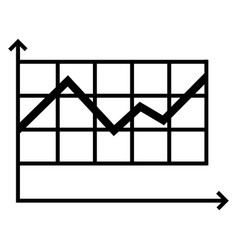 graph icon simple style vector image