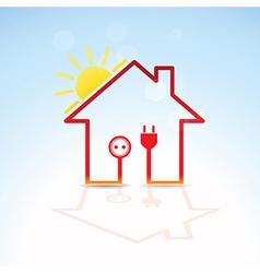 Green house solar circuit vector