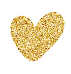 Heart love gold golden design element happy vector