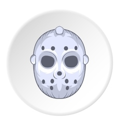 Hockey mask icon cartoon style vector
