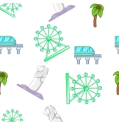 Holiday in Singapore pattern cartoon style vector