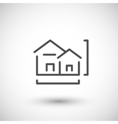 House project line icon vector image