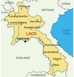 Lao Peoples Democratic Republic - map - Laos vector image