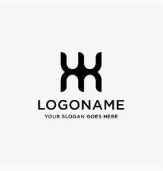 letter wm logo letter mw logo icon template vector image