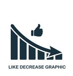like decrease graphic icon mobile app printing vector image