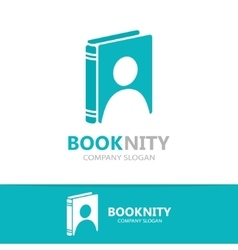 logo combination of a book and man vector image