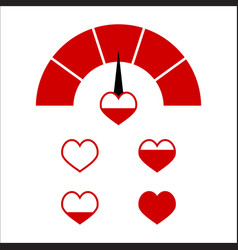 love red indictor full love heart vector image