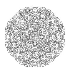 Mandala doodle round ornament coloring vector
