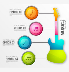 music design infographics vector image