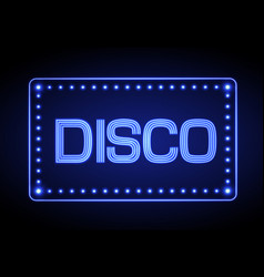 neon sign disco party vector image