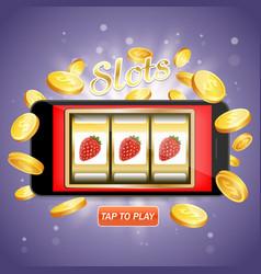 online slots poster banner design template vector image