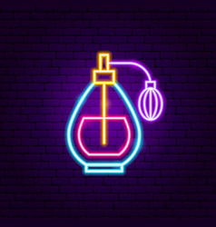 perfume neon sign vector image
