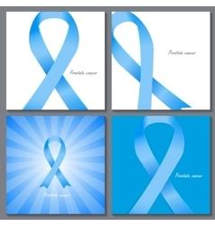 Prostate cancer awareness blue ribbon vector