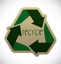 Recycle design vector