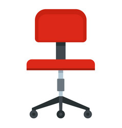 Red office a chair icon isolated vector