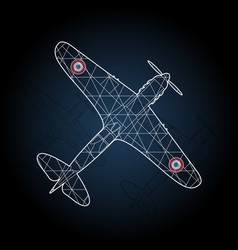 retro france airplane vector image