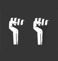 Revolution hand fist up as freedom power vector