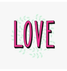 Romantic love simple lettering vector image